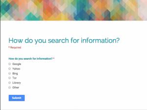 Search survey capture
